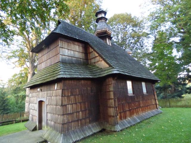 Drewniana cerkiew w Łodzinie